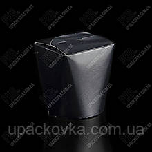 Бокс для лапши бумажный FLT 700 мл. ЧЕРНЫЙ 2РЕ
