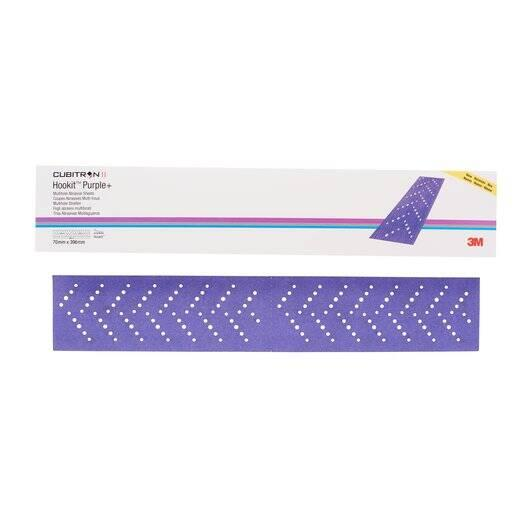 3M Cubitron Hookit Полоска абразивная Purple+, 180+, 70 мм x 396 мм