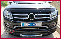 VW Amarok Накладки на передний бампер (полоски)