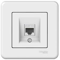 Розетка компьютерная белая 6-той категории Leona Schneider Electric