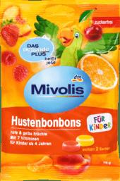 Das gesunde Plus Mivolis Hustenbonbons für Kinder Детские конфеты от кашля с витаминами 75 г