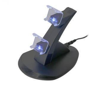Подставка-зарядка для джостиков PS4.Зарядная док станция для зарядки 2 геймпадов., фото 2
