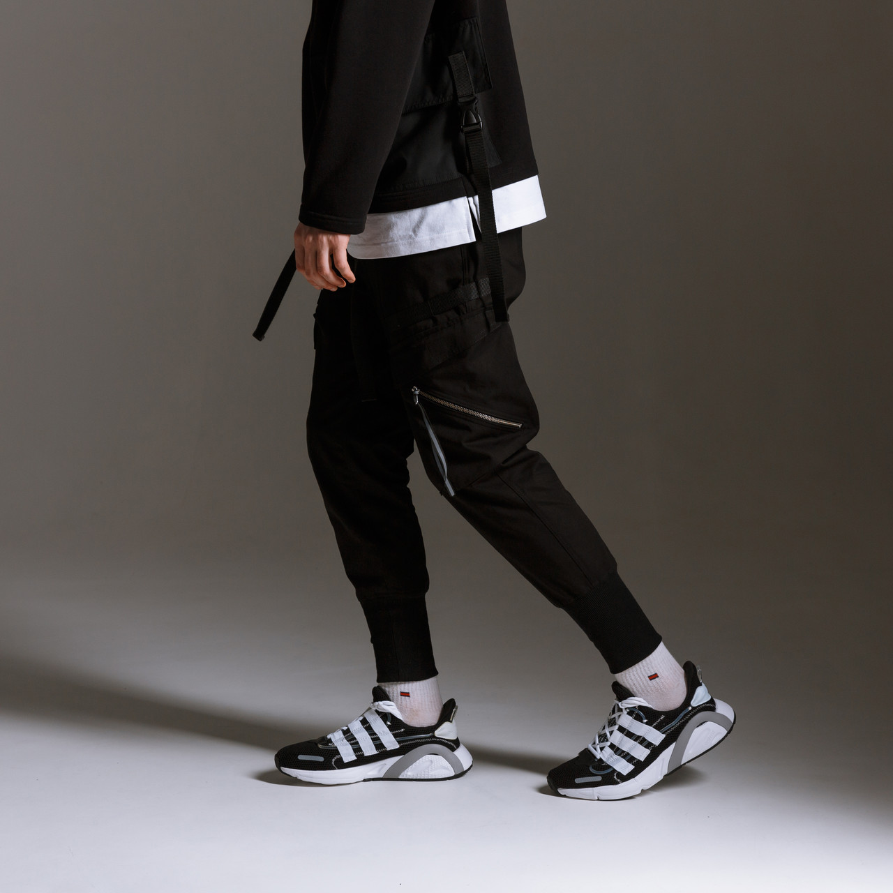 Штаны карго мужские черные бренд ТУР модель Барака (Baraka) TУRWEAR