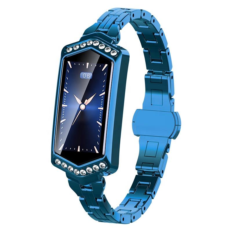Умный фитнес браслет Finow B78 с цветным дисплеем и тонометром Синий (ftfinowb78blue)