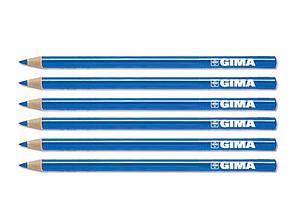 Олівець Gima Dermatograph на восковій основі для нанесення розмітки та ескізу макіяжу № 6 Синій (mpm_00339)