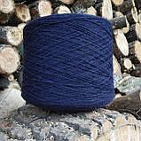 100% шерсть шетландской овцы синий чернильный, фото 2