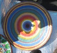 """Блюдо керамика тарелка """"Спектр рассвета 3""""40-42 см настенная большая"""