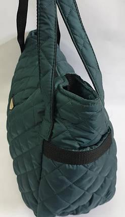 Стьобана зимова жіноча сумка темно-зелена BR-S 1108811799, фото 2