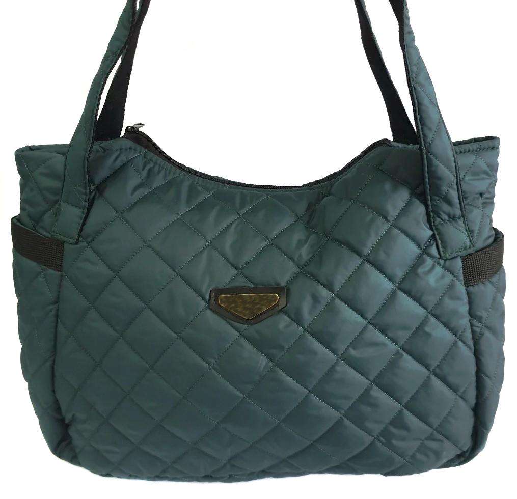 Стьобана зимова жіноча сумка темно-зелена BR-S 1108811799
