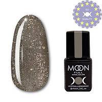 Гель-лак MOON FULL color Gel polish № 325 серебристо-золотой мелко-шиммерный