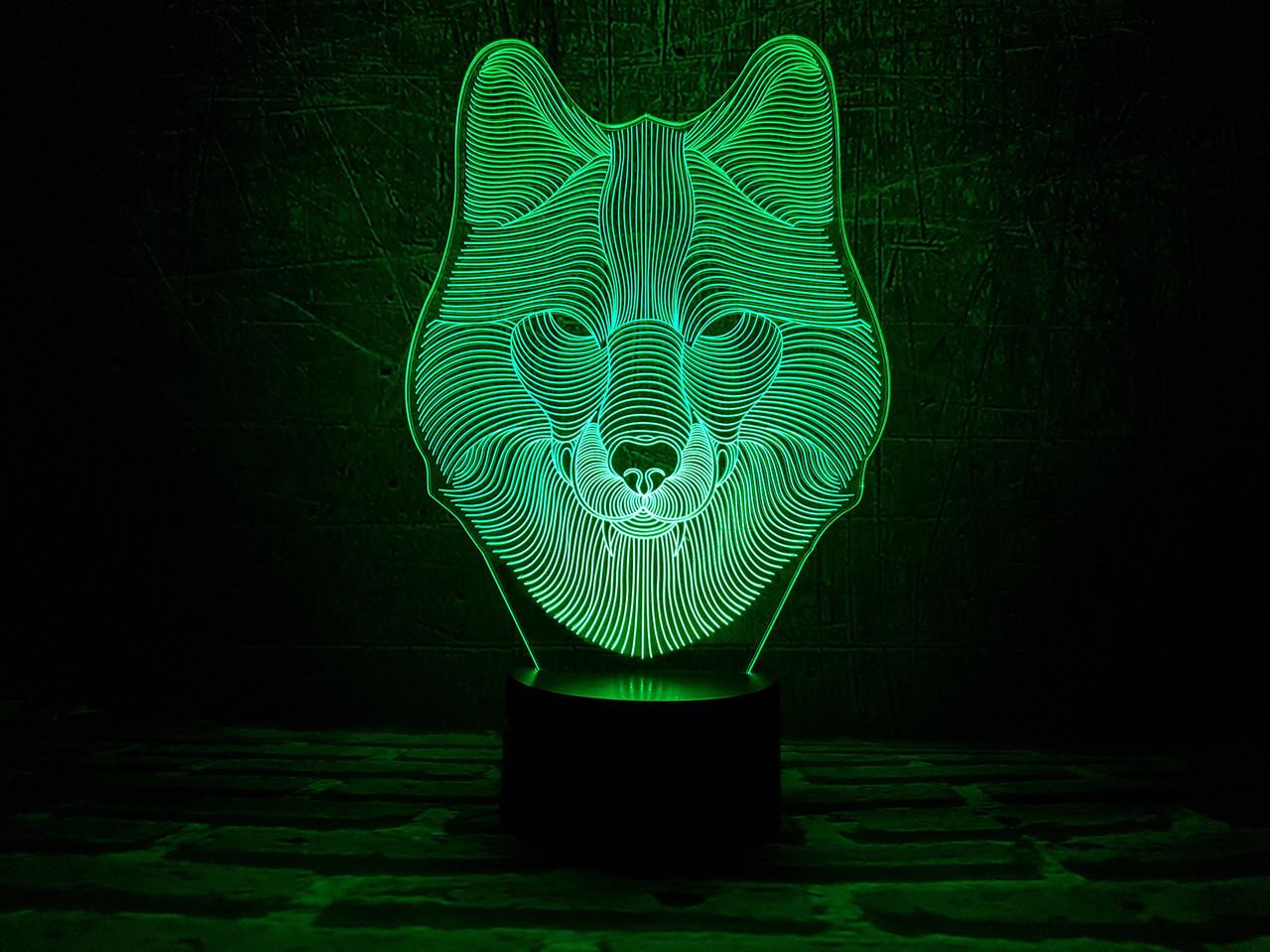 "3D Ночник ""Волк"" 3DTOYSLAMP"