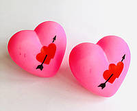 Сердце светяшка розовое
