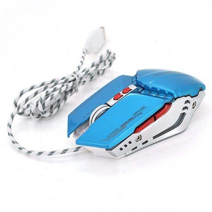 Компьютерная игровая мышь, мышка Zornwee GX20 с подсветкой Синий