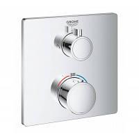 Смеситель термостатический для ванны внешняя часть GROHE Grohtherm с переключателем на 2 положения 24079000 хром  (57196)