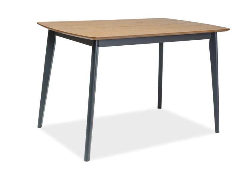 Стол деревянный кухонный обеденный на кухню столовый дуб графит VITRO 120x75 (Signal)