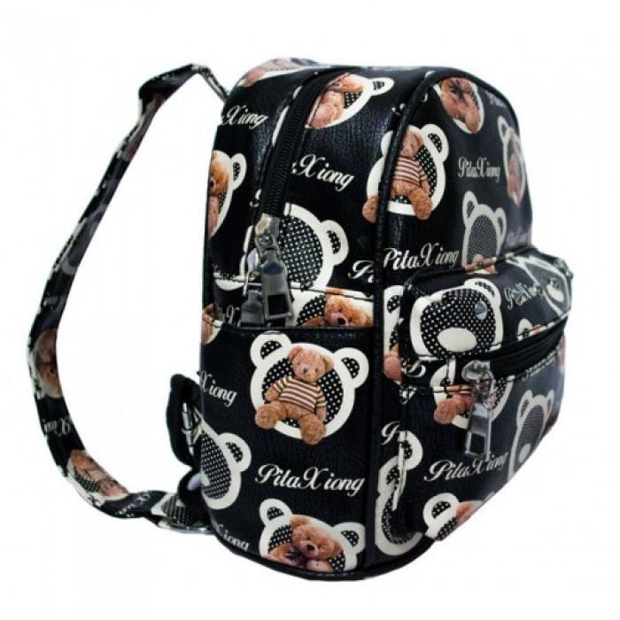 Рюкзак с рисунком Мишка 47250 Размер 30x25x12 Чёрный