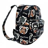 Рюкзак с рисунком Мишка 47250 Размер 30x25x12 Чёрный, фото 1