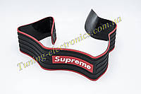 Универсальная гибкая Черно-Красная Supreme защитная накладка лента на задний бампер авто от царапин и сколов