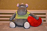 Мягкая игрушка большой Бегемотик 100 см.Игрушка бегемот
