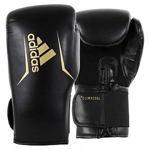 Боксерские перчатки Adidas SPEED 75 (черный/золотой, ADISBG75)