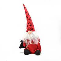 Новогодняя фигура-игрушка мягкая Гном 44 см ABX 91019-1