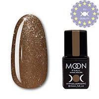 Гель-лак MOON FULL color Gel polish № 321 золотисто-бежевый с мелким шиммером