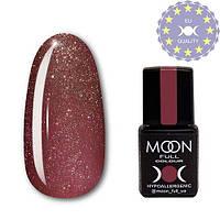 Гель-лак MOON FULL color Gel polish № 320 темно-розовый винтажный с мелким шиммером