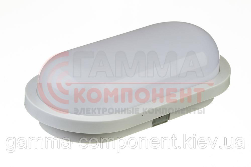 Светодиодный светильник Datex накладной ЖКХ 20Вт, овальный, холодный белый, IP65
