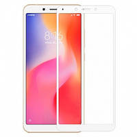 Защитное стекло на Huawei Y5 2018, Y5 Prime 2018, Y5 Lite 2018 Белое с полным покрытием экрана телефона, Full ScreenFull Glue.