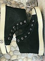 Кеды кожаные женские черные замшевые демисезонные 39