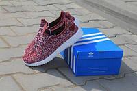 Adidas Yeezy Boost красные,плотная сетка