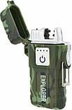 Зажигалка электроимпульсная походная от USB UKC влагозащищенная JL317 Explorer, фото 3