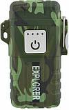 Зажигалка электроимпульсная походная от USB UKC влагозащищенная JL317 Explorer, фото 4