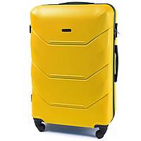 Дорожный средний чемодан Wings 147 на 4х колесах желтый