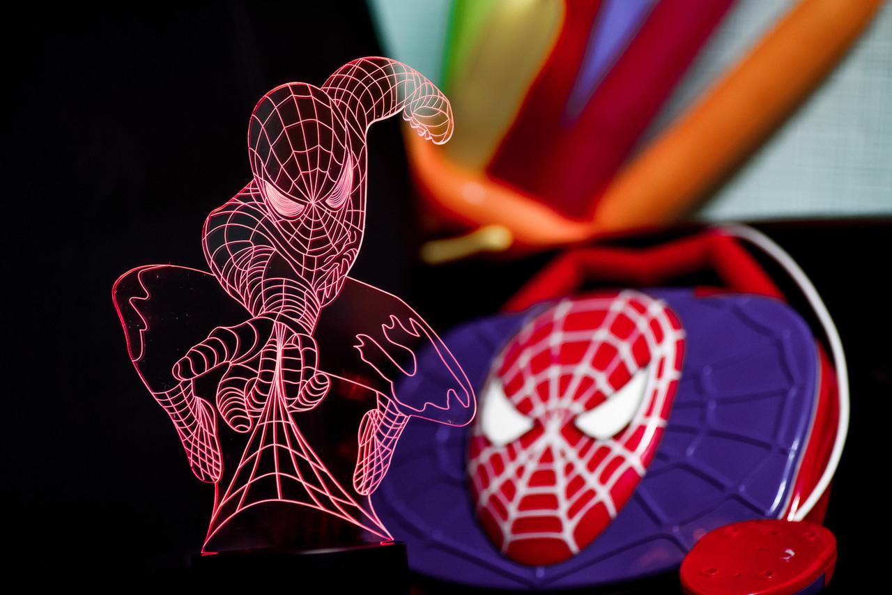 """Сменная пластина для 3D светильников """"Человек-паук"""""""