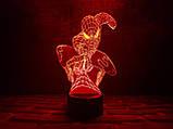"""Сменная пластина для 3D светильников """"Человек-паук"""" , фото 2"""