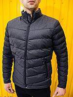 Мужская куртка темно-серая 16277