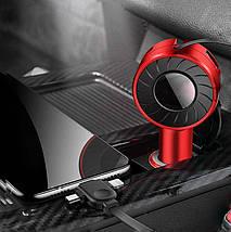 Автомобильный адаптер с двумя Usb портами 3 в 1 Lightning с Micro Usb и Type-C СC2 - 223345, фото 2