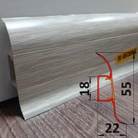 Плинтус Ideal Комфорт, высотой 55 мм, 2,5 м Клён северный