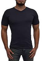 Мужская футболка | цвет серый | стрейч хлопок | V-образное горло | без рисунка