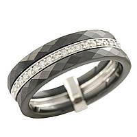 Серебряное кольцо GS с керамикой (1223635) 19 размер