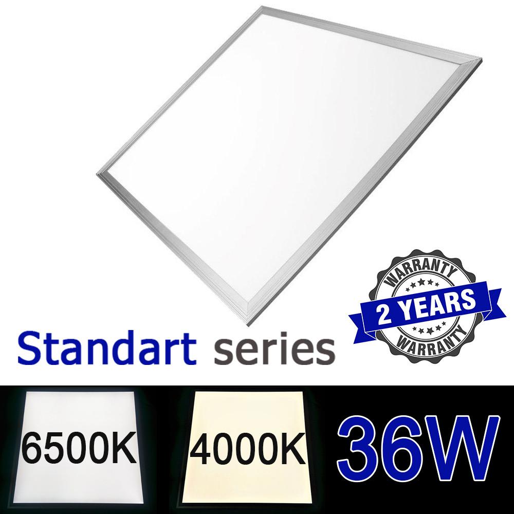 Світлодіодна LED панель 600х600 мм ВБУДОВАНА 36Вт 4000-4500K/6000-6500К серія Standart