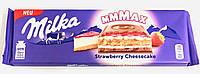 Молочный шоколад Милка Milka Strawberry  Cheesecake 300g.