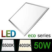 Светодиодная LED панель 600х600мм ВСТРАИВАЕМАЯ 50Вт 4000-4500K/6000-6500К серия ECO