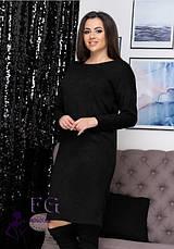 Ошатне тепле ангоровое сукню до колін оверсайз рожеве, фото 3