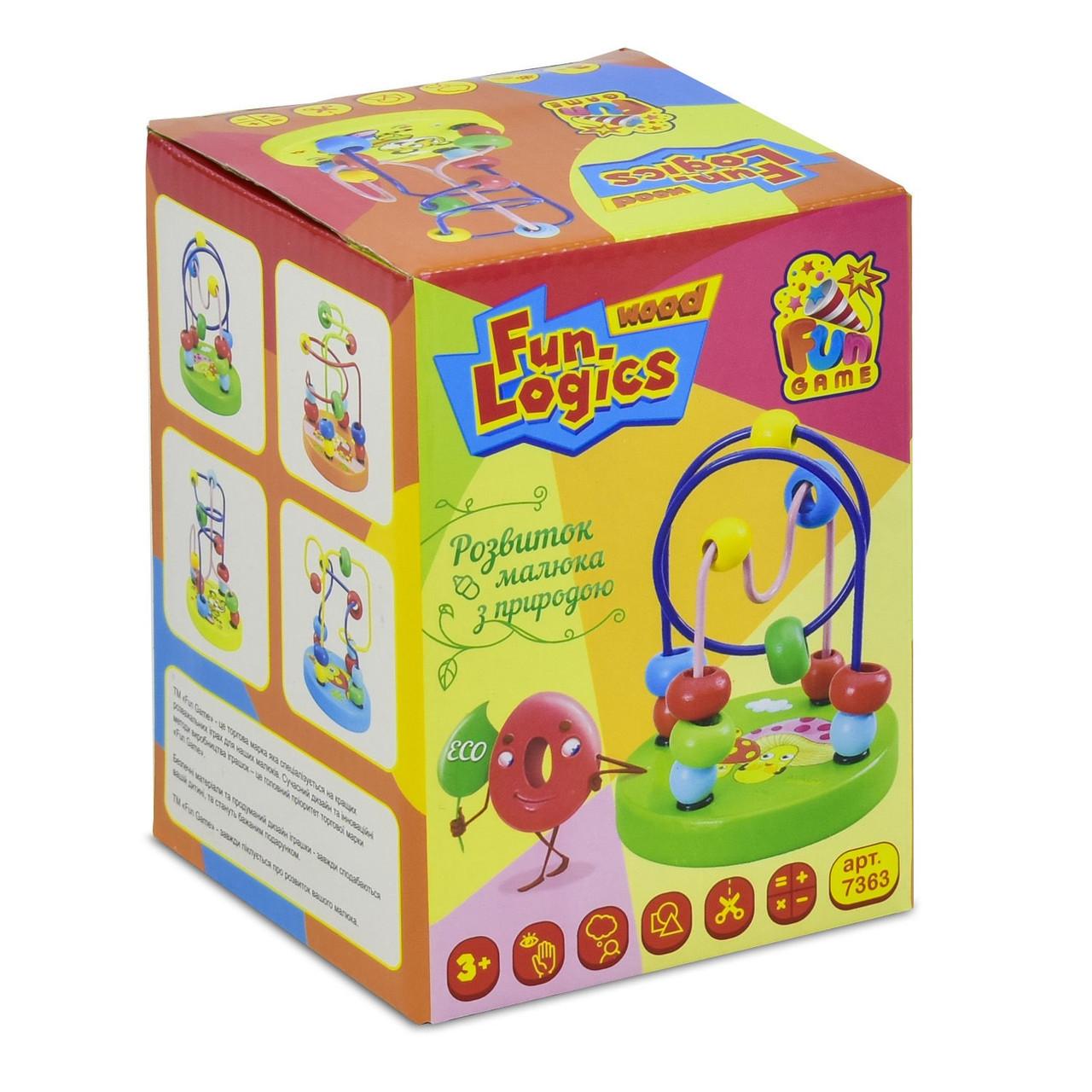"""Деревянная игрушка """"Пальчиковый лабиринт"""" FUN GAME арт. 7363"""