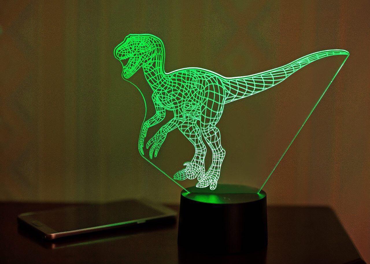"""3D светильник """"Велоцираптор"""""""