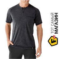 Термобелье термофутболка Smartwool для прохладной погоды Men`s Everyday Exploration SS Henley футболка чоловіча, Charcoal, M (00272.003-M)