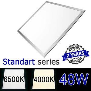 Светодиодная LED панель 600х600 мм ВСТРАИВАЕМАЯ 48Вт 4000-4500К/6000-6500К серия STANDART