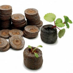 Торфяные таблетки Джиффи (Jiffy), диаметр 44 мм - Торфяные таблетки и стаканчики